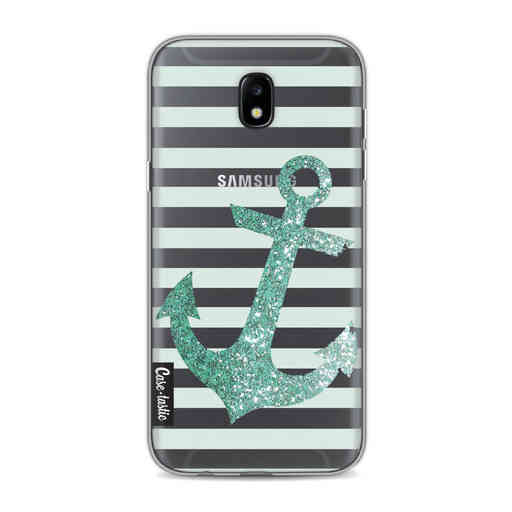 Casetastic Softcover Samsung Galaxy J5 (2017) - Glitter Anchor Mint