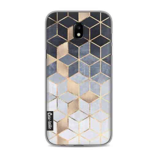 Casetastic Softcover Samsung Galaxy J5 (2017) - Soft Blue Gradient Cubes
