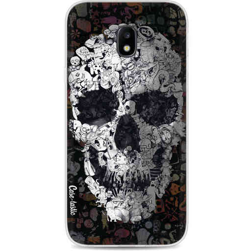 Casetastic Softcover Samsung Galaxy J3 (2017)  - Doodle Skull BW