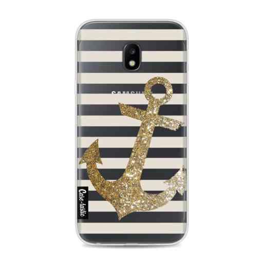 Casetastic Softcover Samsung Galaxy J3 (2017)  - Glitter Anchor Gold