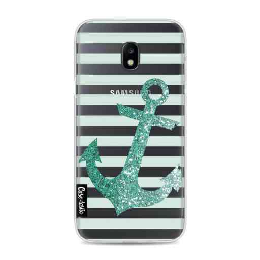 Casetastic Softcover Samsung Galaxy J3 (2017)  - Glitter Anchor Mint