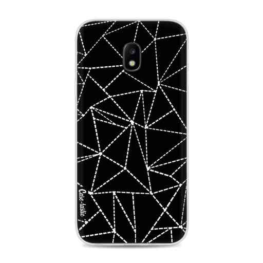 Casetastic Softcover Samsung Galaxy J3 (2017)  - Abstract Dotted Lines Black