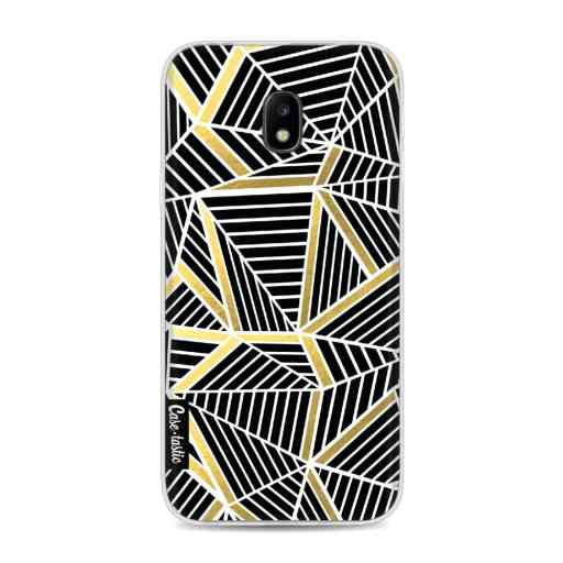 Casetastic Softcover Samsung Galaxy J3 (2017)  - Abstraction Lines Black Gold