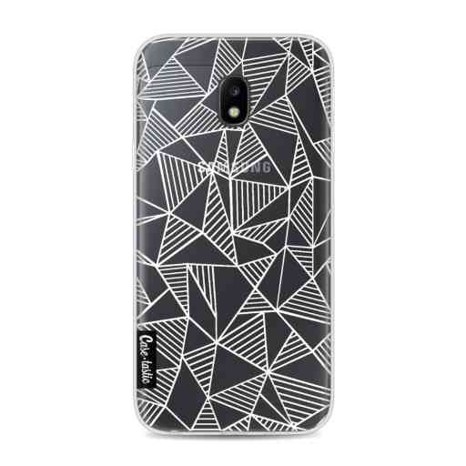 Casetastic Softcover Samsung Galaxy J3 (2017)  - Abstraction Lines White Transparent
