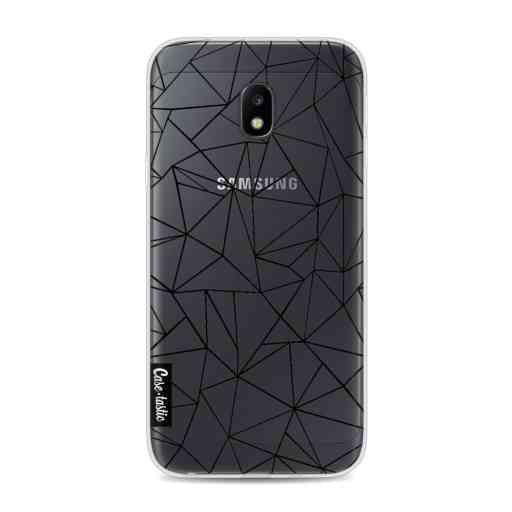 Casetastic Softcover Samsung Galaxy J3 (2017)  - Abstraction Outline Black Transparent