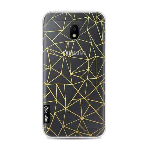 Casetastic Softcover Samsung Galaxy J3 (2017)  - Abstraction Outline Gold Transparent