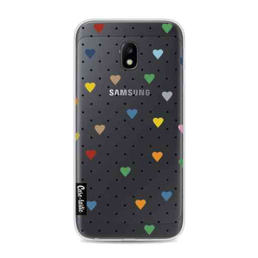 Casetastic Softcover Samsung Galaxy J3 (2017)  - Pin Point Hearts Transparent