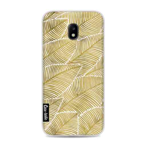 Casetastic Softcover Samsung Galaxy J3 (2017)  - Tropical Leaves Gold