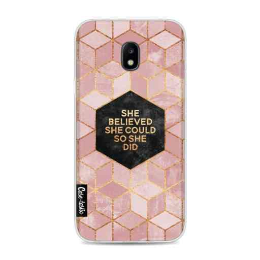 Casetastic Softcover Samsung Galaxy J3 (2017)  - She Believed She Could So She Did