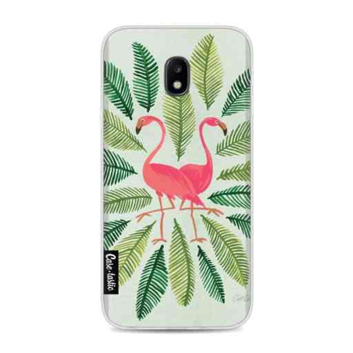 Casetastic Softcover Samsung Galaxy J3 (2017)  - Flamingos Green