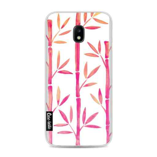 Casetastic Softcover Samsung Galaxy J3 (2017)  - Pink Bamboo Pattern