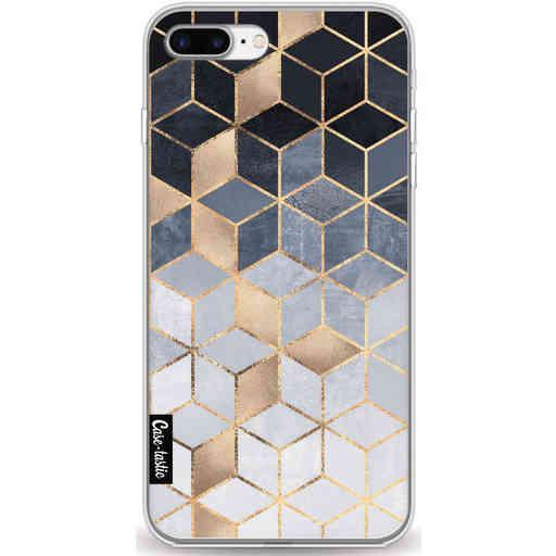 Casetastic Softcover Apple iPhone 7 Plus / 8 Plus - Soft Blue Gradient Cubes