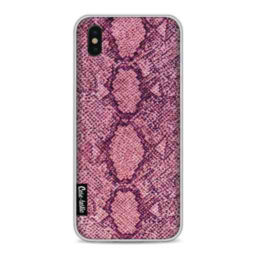 Casetastic Softcover Apple iPhone X / XS - Pink Snake