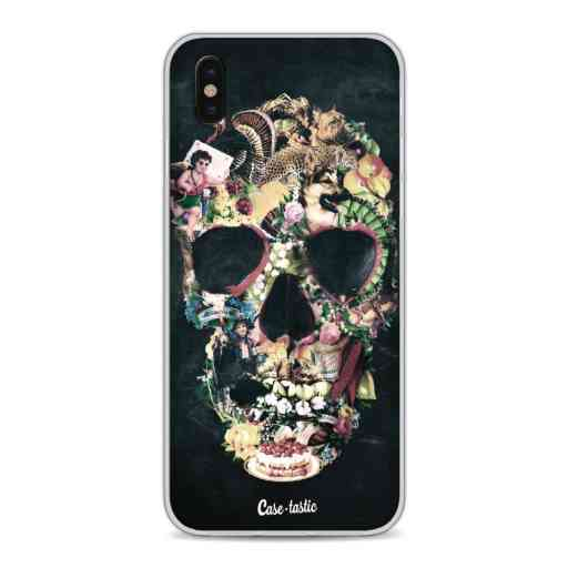 Casetastic Softcover Apple iPhone X / XS - Vintage Skull