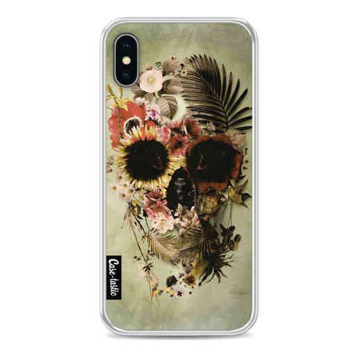 Casetastic Softcover Apple iPhone X / XS - Garden Skull Light