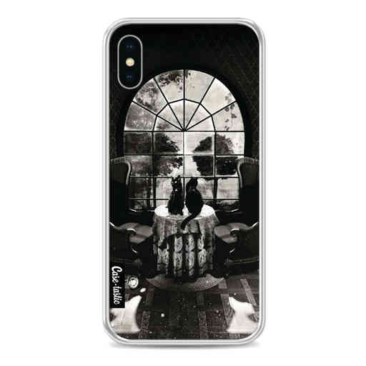 Casetastic Softcover Apple iPhone X / XS - Room Skull BW