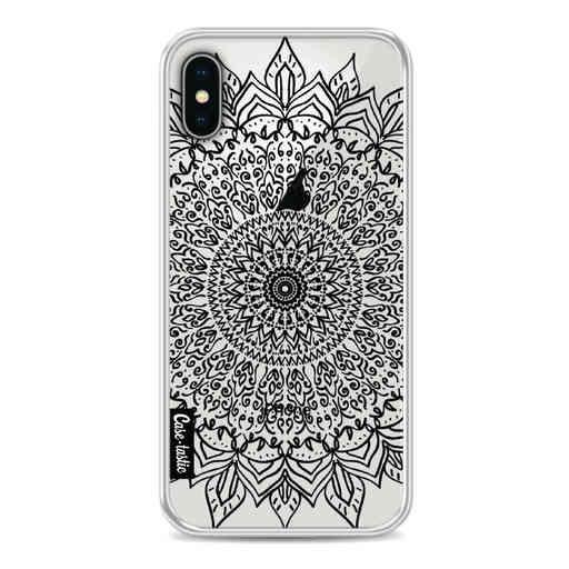 Casetastic Softcover Apple iPhone X / XS - Black Mandala