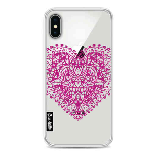 Casetastic Softcover Apple iPhone X / XS - Doodle Heart
