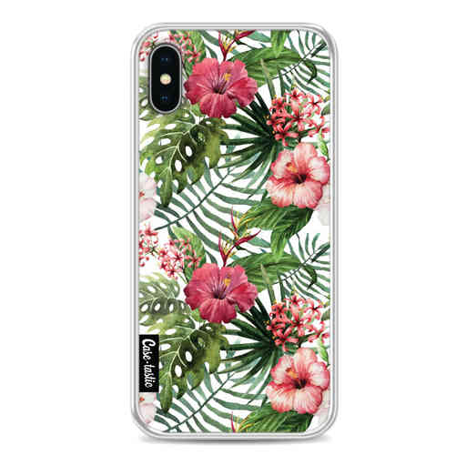 Casetastic Softcover Apple iPhone X / XS - Tropical Flowers