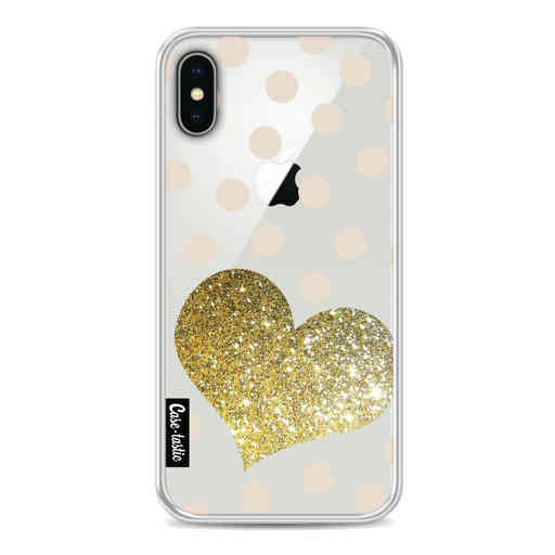 Casetastic Softcover Apple iPhone X / XS - Glitter Heart