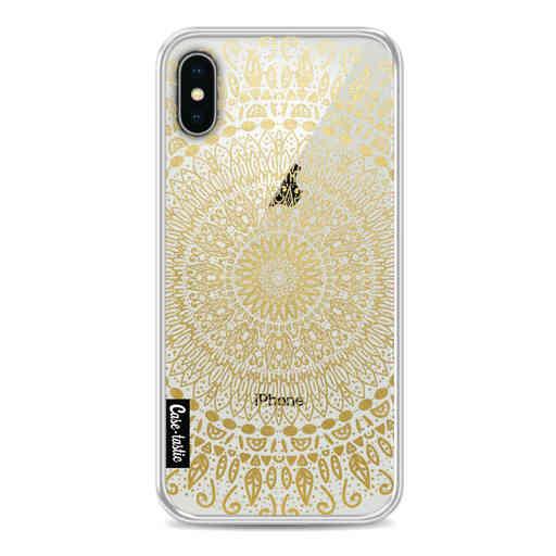 Casetastic Softcover Apple iPhone X / XS - Gold Mandala