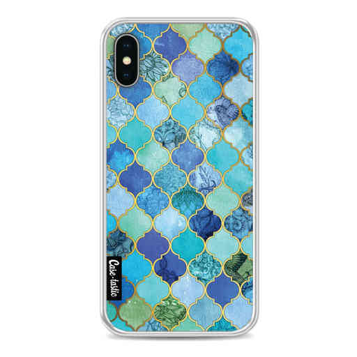 Casetastic Softcover Apple iPhone X / XS - Aqua Moroccan Tiles