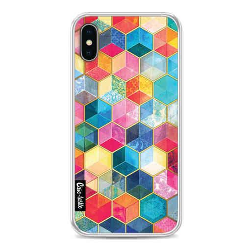 Casetastic Softcover Apple iPhone X / XS - Bohemian Honeycomb