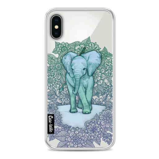 Casetastic Softcover Apple iPhone X / XS - Emerald Elephant