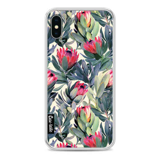 Casetastic Softcover Apple iPhone X / XS - Painted Protea