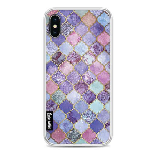 Casetastic Softcover Apple iPhone X / XS - Purple Moroccan Tiles