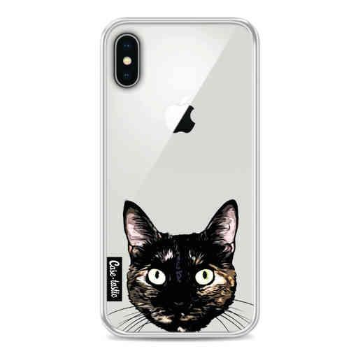 Casetastic Softcover Apple iPhone X / XS - Peeking Kitty