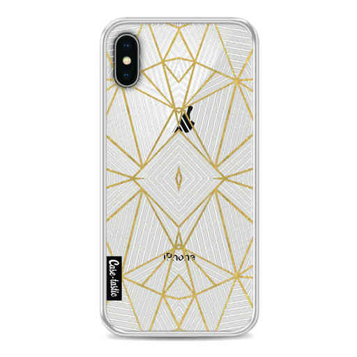 Casetastic Softcover Apple iPhone X - Abstraction Half Gold Transparent