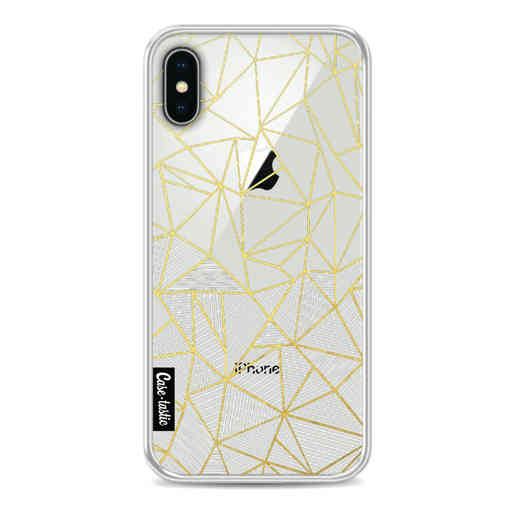 Casetastic Softcover Apple iPhone X - Abstraction Half Half Transparent