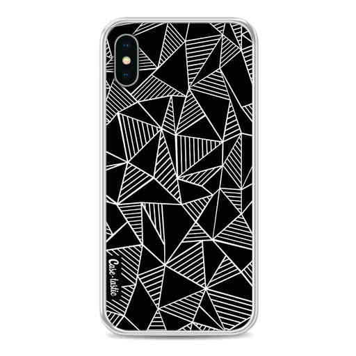 Casetastic Softcover Apple iPhone X / XS - Abstraction Lines Black