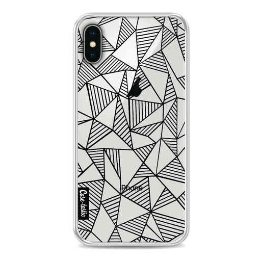 Casetastic Softcover Apple iPhone X / XS - Abstraction Lines Black Transparent
