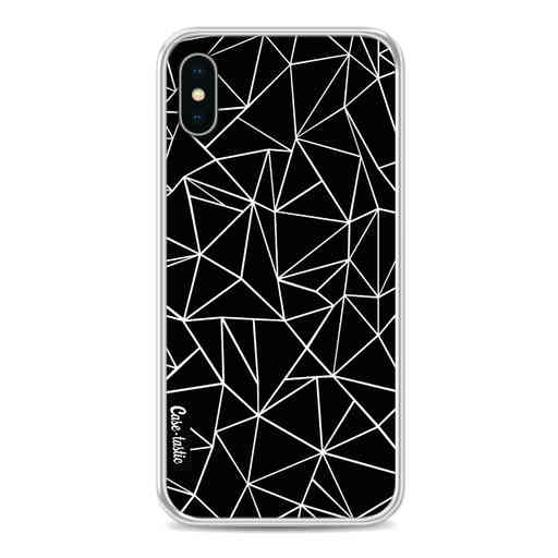 Casetastic Softcover Apple iPhone X - Abstraction Outline Black