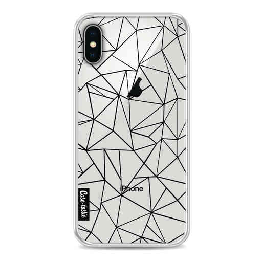 Casetastic Softcover Apple iPhone X / XS - Abstraction Outline Black Transparent