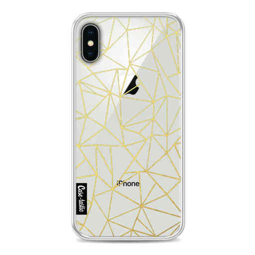 Casetastic Softcover Apple iPhone X / XS - Abstraction Outline Gold Transparent
