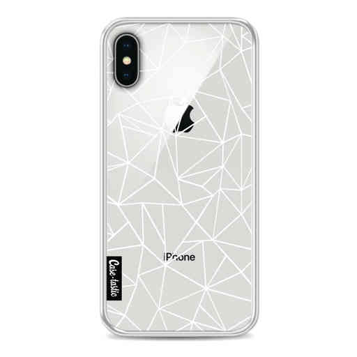 Casetastic Softcover Apple iPhone X / XS - Abstraction Outline White Transparent