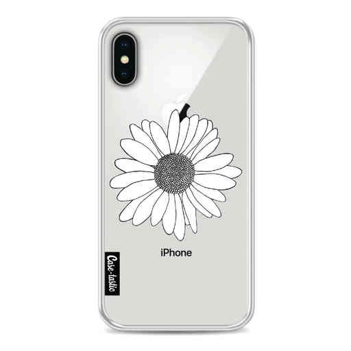 Casetastic Softcover Apple iPhone X / XS - Daisy Transparent