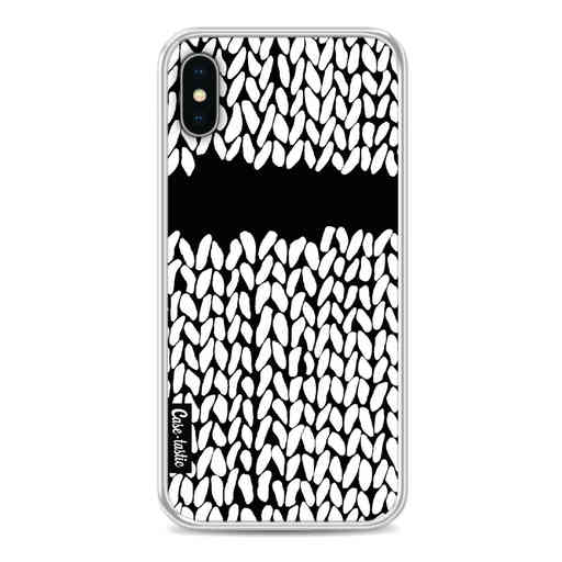 Casetastic Softcover Apple iPhone X / XS - Missing Knit Black