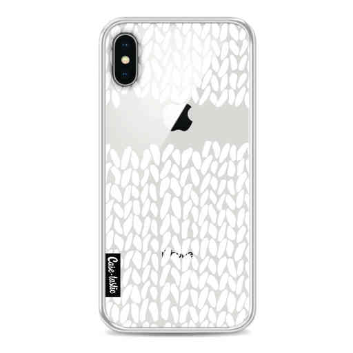 Casetastic Softcover Apple iPhone X / XS - Missing Knit Transparent