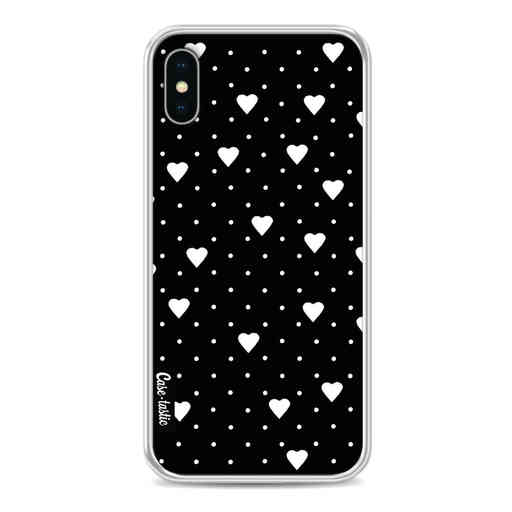 Casetastic Softcover Apple iPhone X / XS - Pin Point Hearts Black