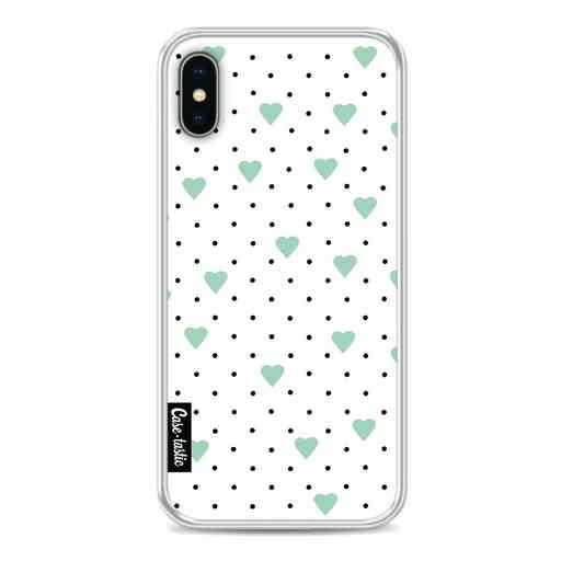 Casetastic Softcover Apple iPhone X / XS - Pin Point Hearts Mint