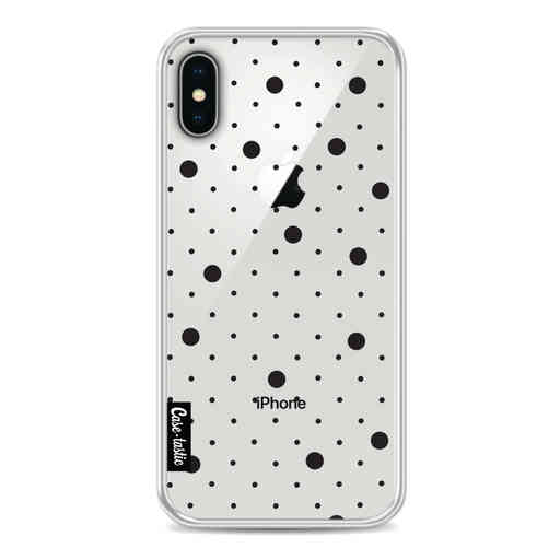 Casetastic Softcover Apple iPhone X / XS - Pin Points Polka Black Transparent