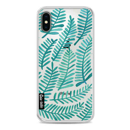 Casetastic Softcover Apple iPhone X / XS - Turquoise Fronds