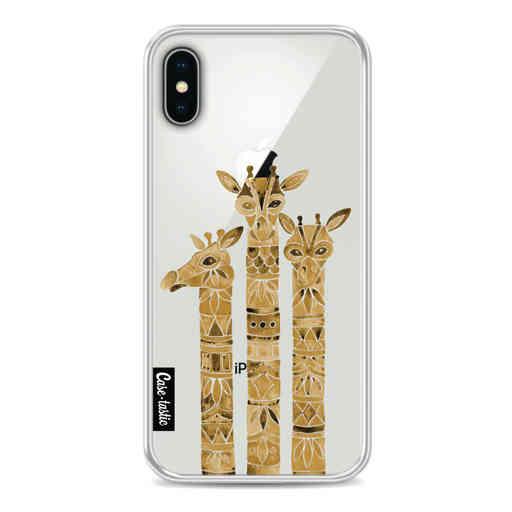 Casetastic Softcover Apple iPhone X / XS - Sepia Giraffes