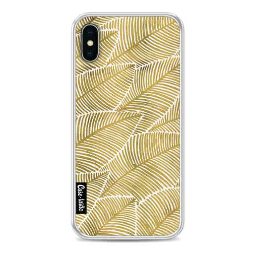 Casetastic Softcover Apple iPhone X / XS - Tropical Leaves Gold