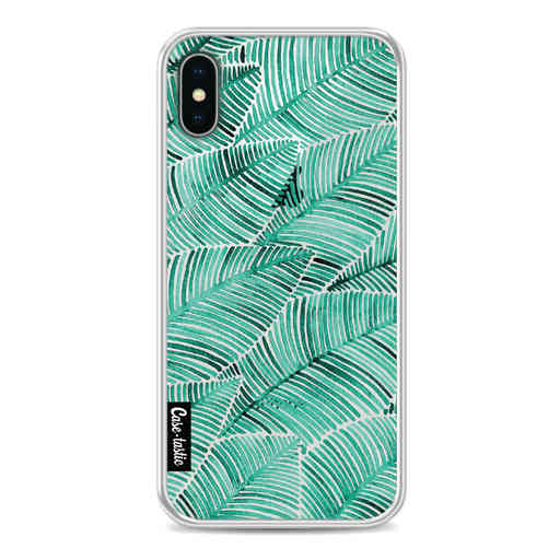 Casetastic Softcover Apple iPhone X / XS - Tropical Leaves Turquoise
