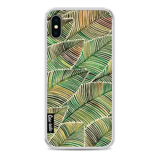 Casetastic Softcover Apple iPhone X / XS - Tropical Leaves Yellow